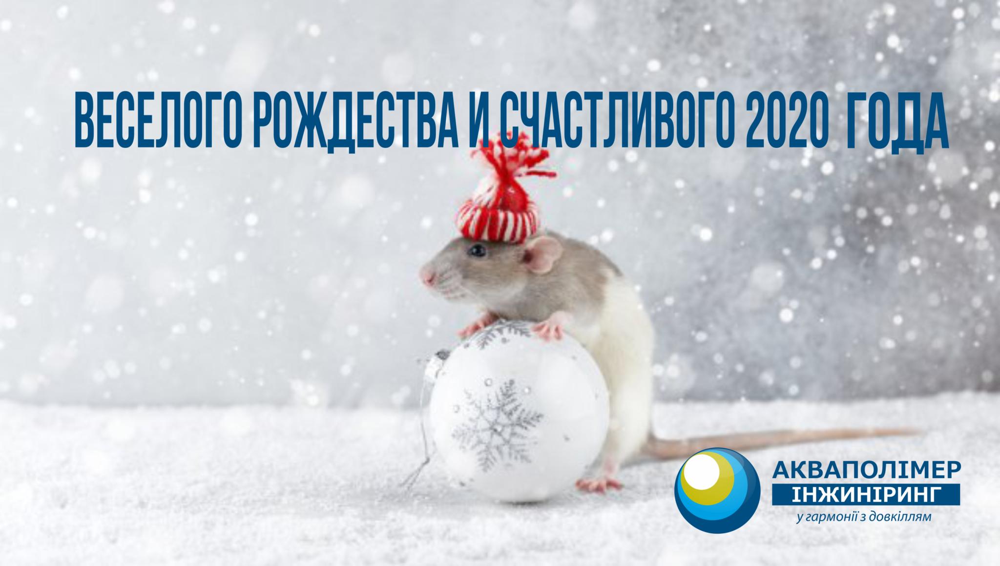 """Коллектив компании """"Акваполимер Инжиниринг"""" поздравляет всех своих клиентов и деловых партнеров с Новым годом и Рождеством Христовым!"""