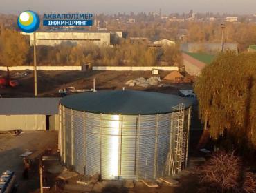 Найбільша модульна ємність (4000 м3) в Україні для зберігання 𝗞𝗔𝗖 у виконанні Акваполімер Інжиніринг!