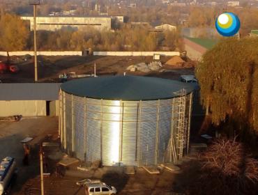 Найбільша модульна ємність (4000 м3) в Україні для зберігання КАС у виконанні Акваполімер Інжиніринг!