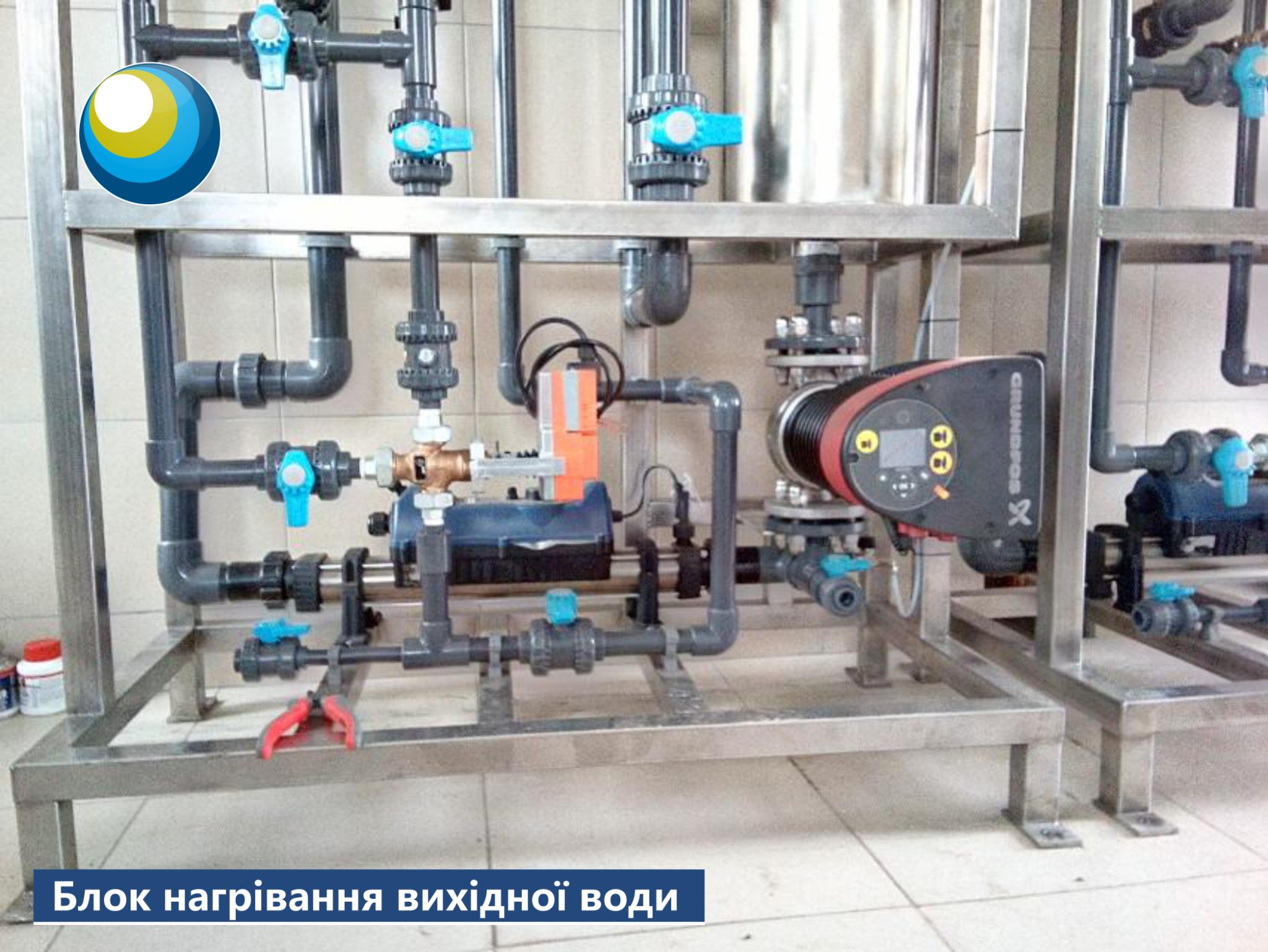 блок нагрівання вихідної води, електролізна установка 2