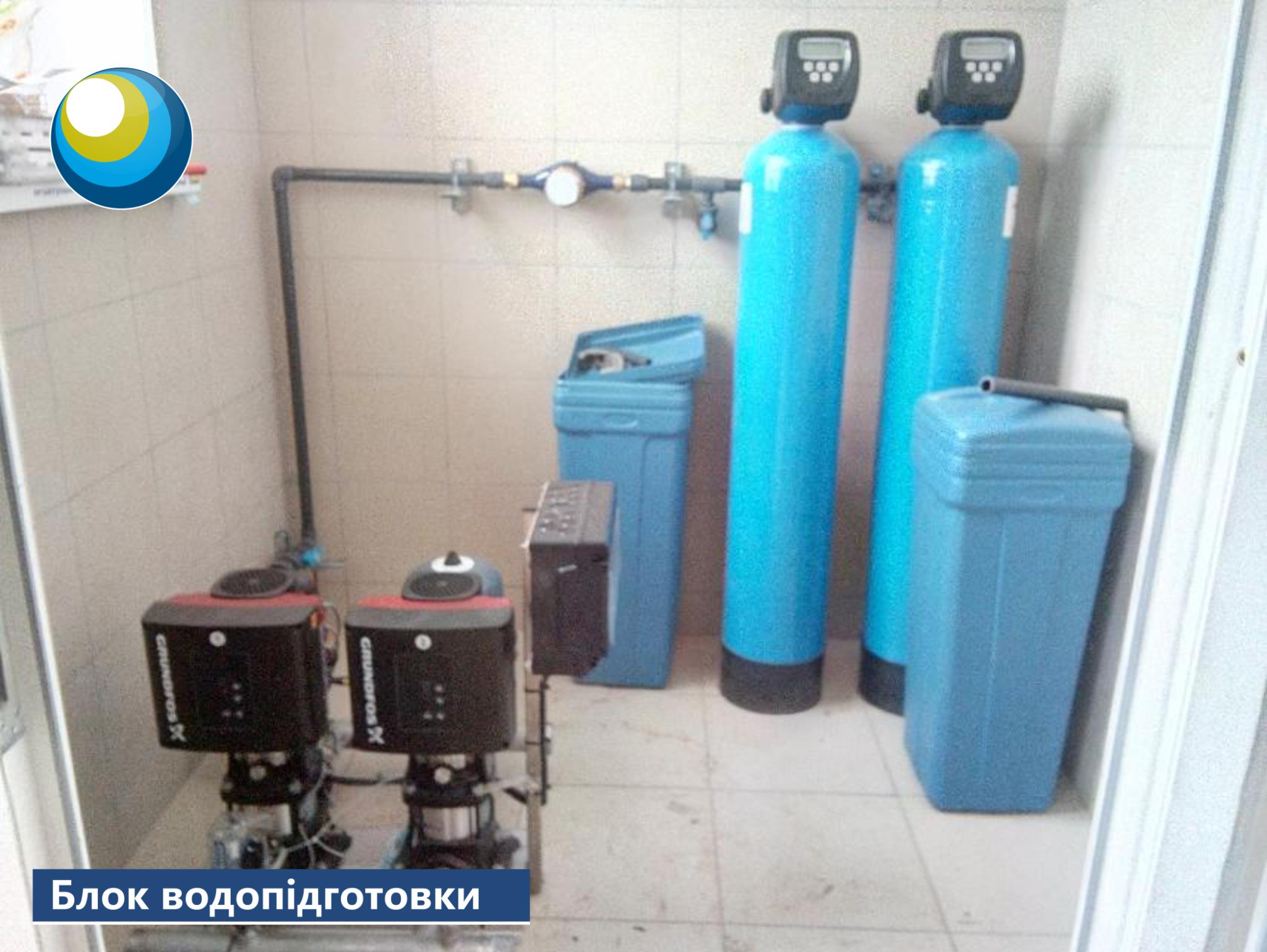 блок водопідготовки, електролізна установка