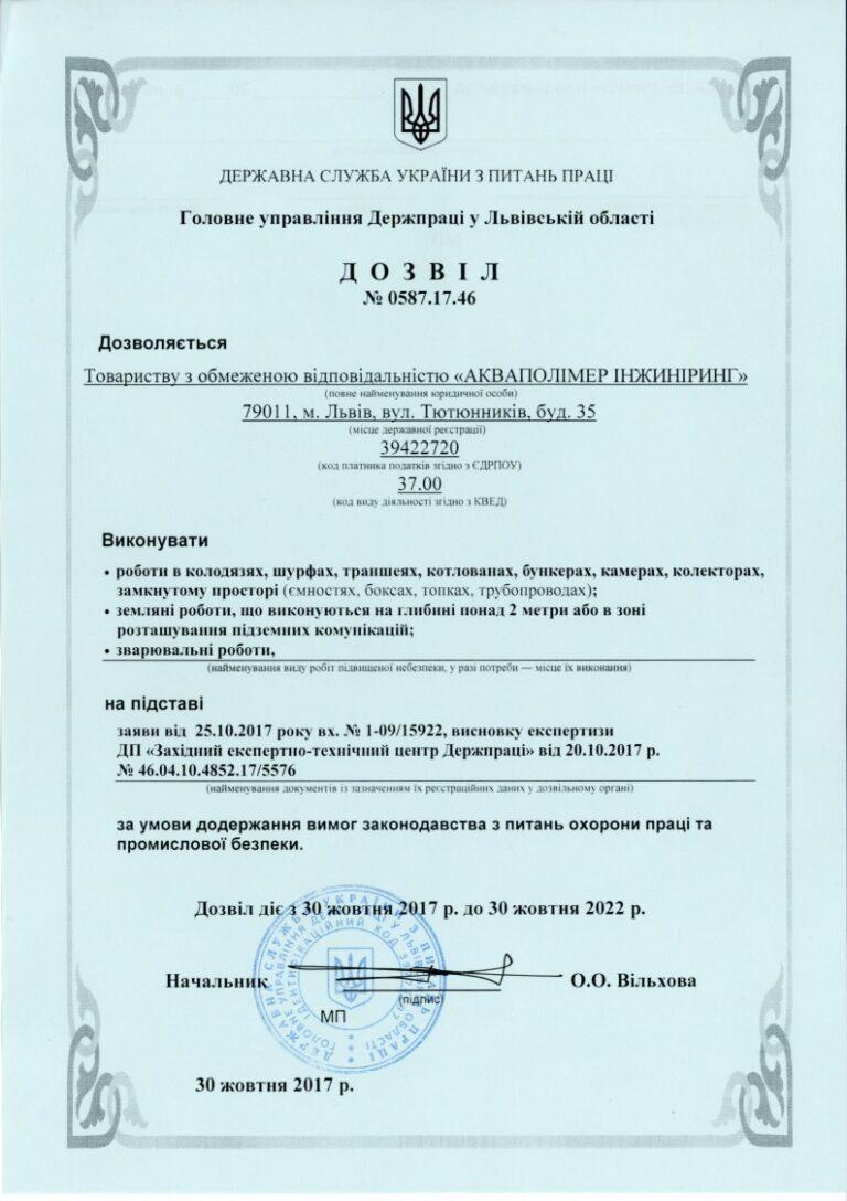 High-risk work permit