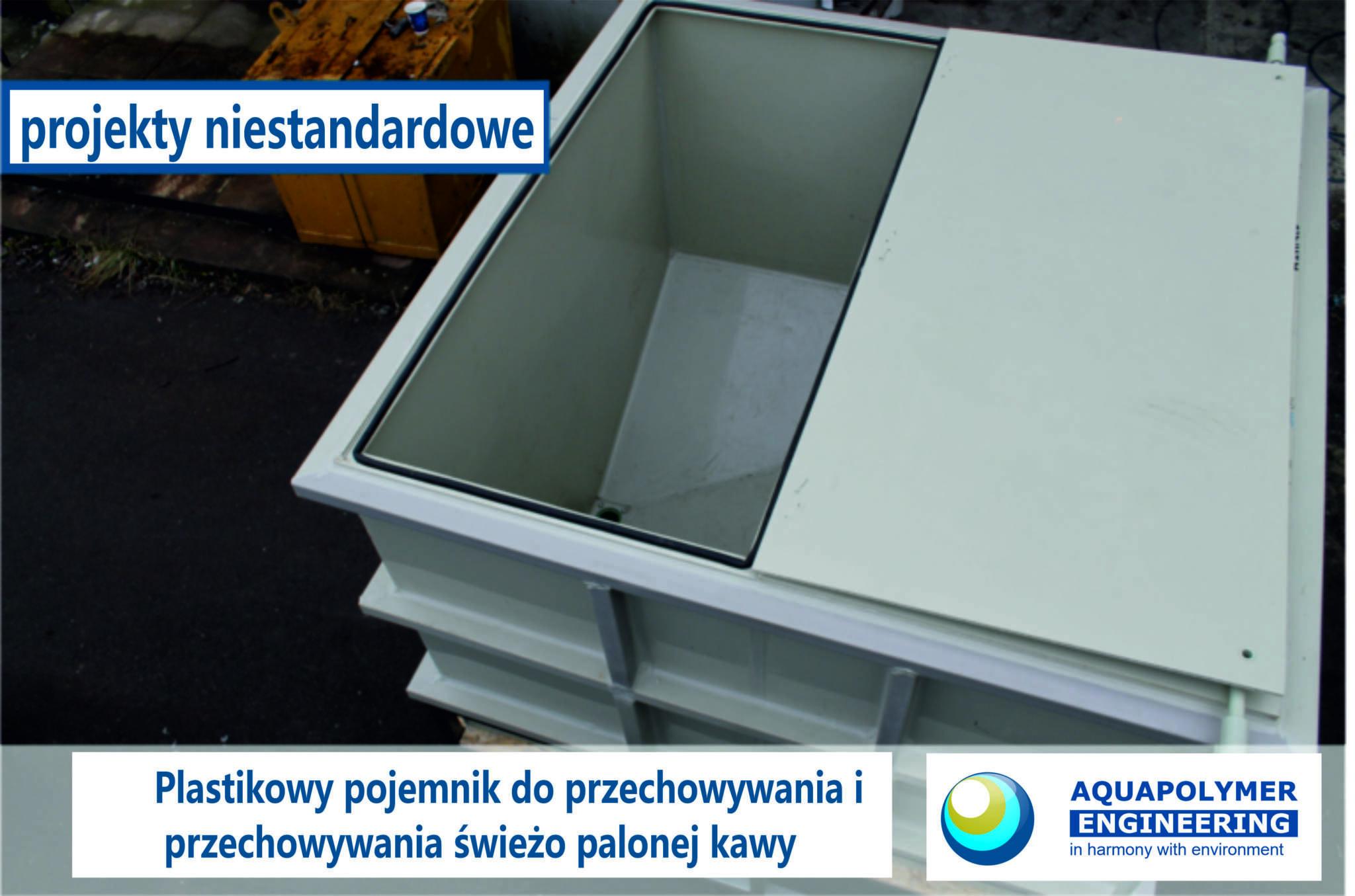 Pojemnik plastikowy, pojemnik polipropylenowy, pojemnik do przechowywania kawy.