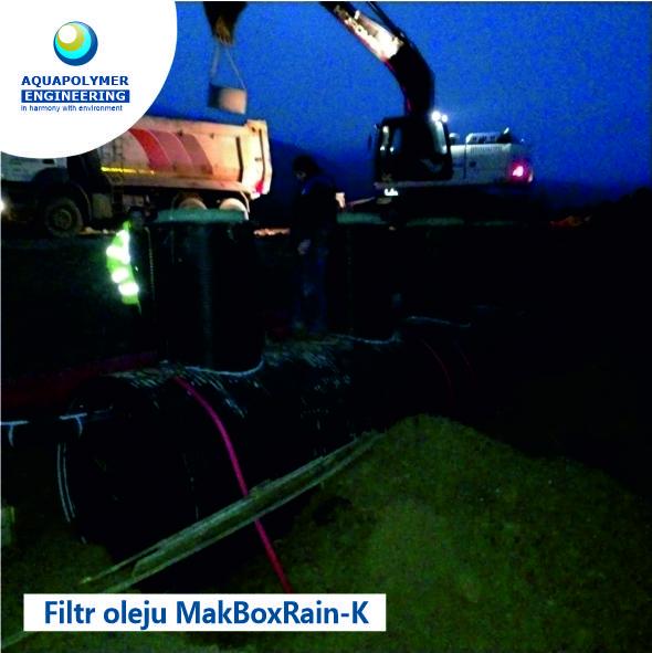 Wykonanie i montaż separatora produktów naftowych MakBoxRain K-10