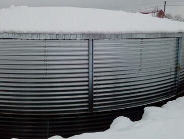 MakBoxTank drinking water storage tank with a volume of 671 m³,  Volyn region