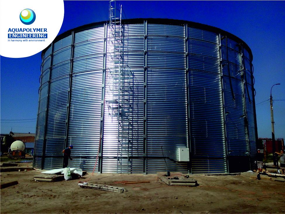 Tank for storage of liquid mineral fertilizers