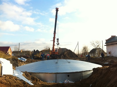 installation of the tank